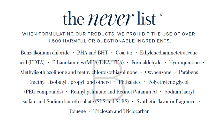 Copy of never list